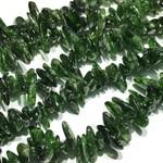 Chrome Diopside Grade B 8-15mm Chip Beads