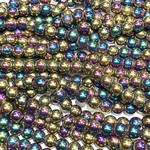 Electroplated Hematite Multi-Colour 6mm Round