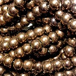 Electroplated Hematite Copper Lustre 6mm Round