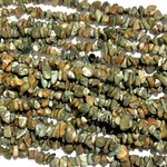 "RHYOLITE (Rainforest Jasper) Chip Beads 34"" Strand"