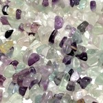 "Rainbow FLUORITE Natural Chip Beads 34"" Strand"