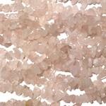 """Rose QUARTZ Natural Chip Beads 34"""" Strand"""