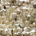 """Rutilated QUARTZ Chip Beads 15"""" Strand"""