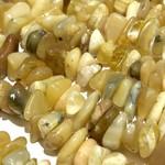 """Yellow OPAL Natural Medium Chips 15"""" Strand"""