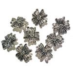 Tibetan Silver Alloy 14mm Small Flower Button 12pcs