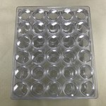 30 Bottle Plastic Bead Storage Container 5.4cm