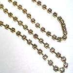 RHINESTONE Cup Chain 3mm Gold 1m/Pkg