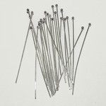 Sterling Silver 1.5in 24g Ball Head Pins 25pcs