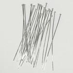 Sterling Silver 2in Flat Head Pins 25pcs