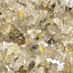 """Gold Rutilated QUARTZ Chip Beads 34"""" Strand"""