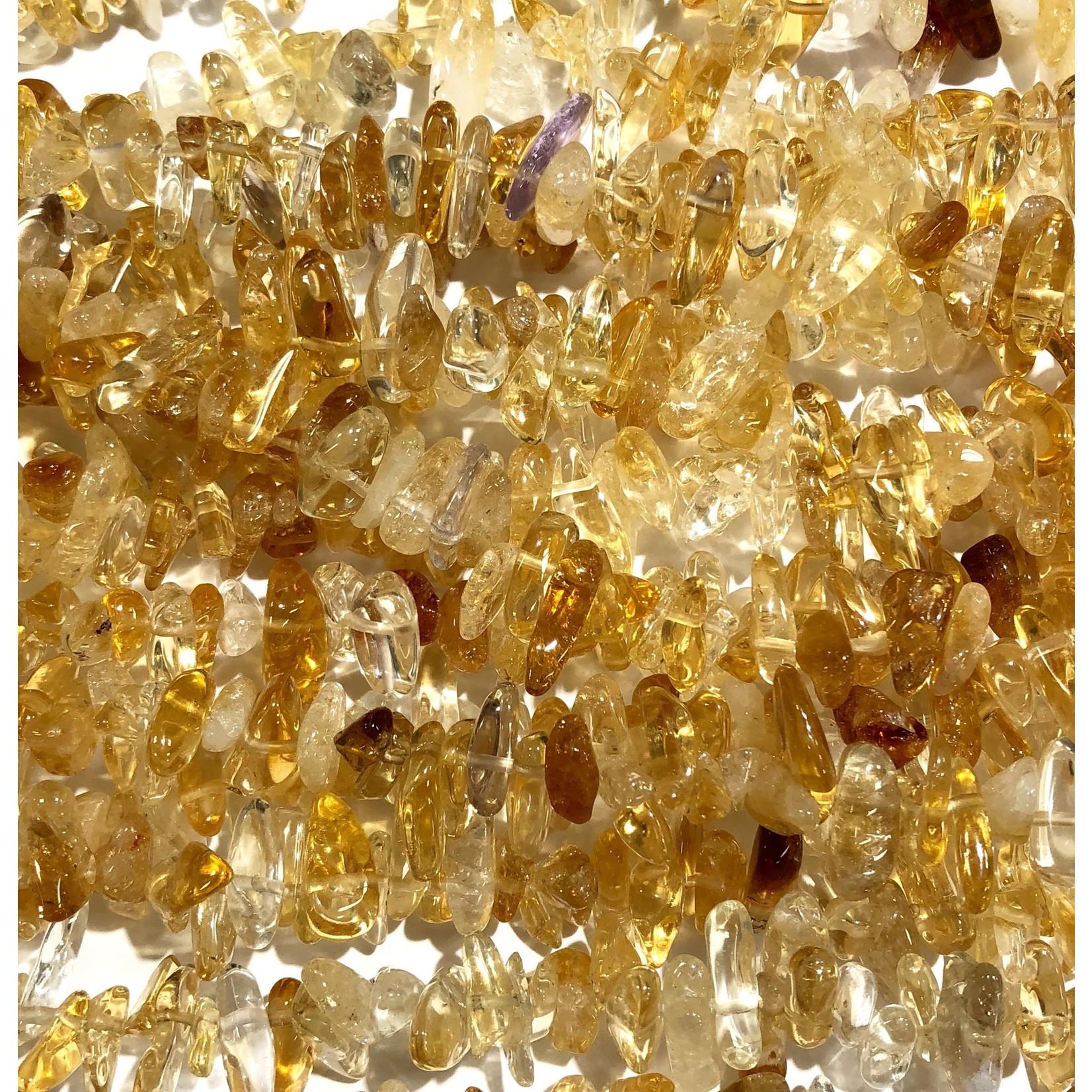 "CITRINE Natural Grade A Chips 15"" Strand"