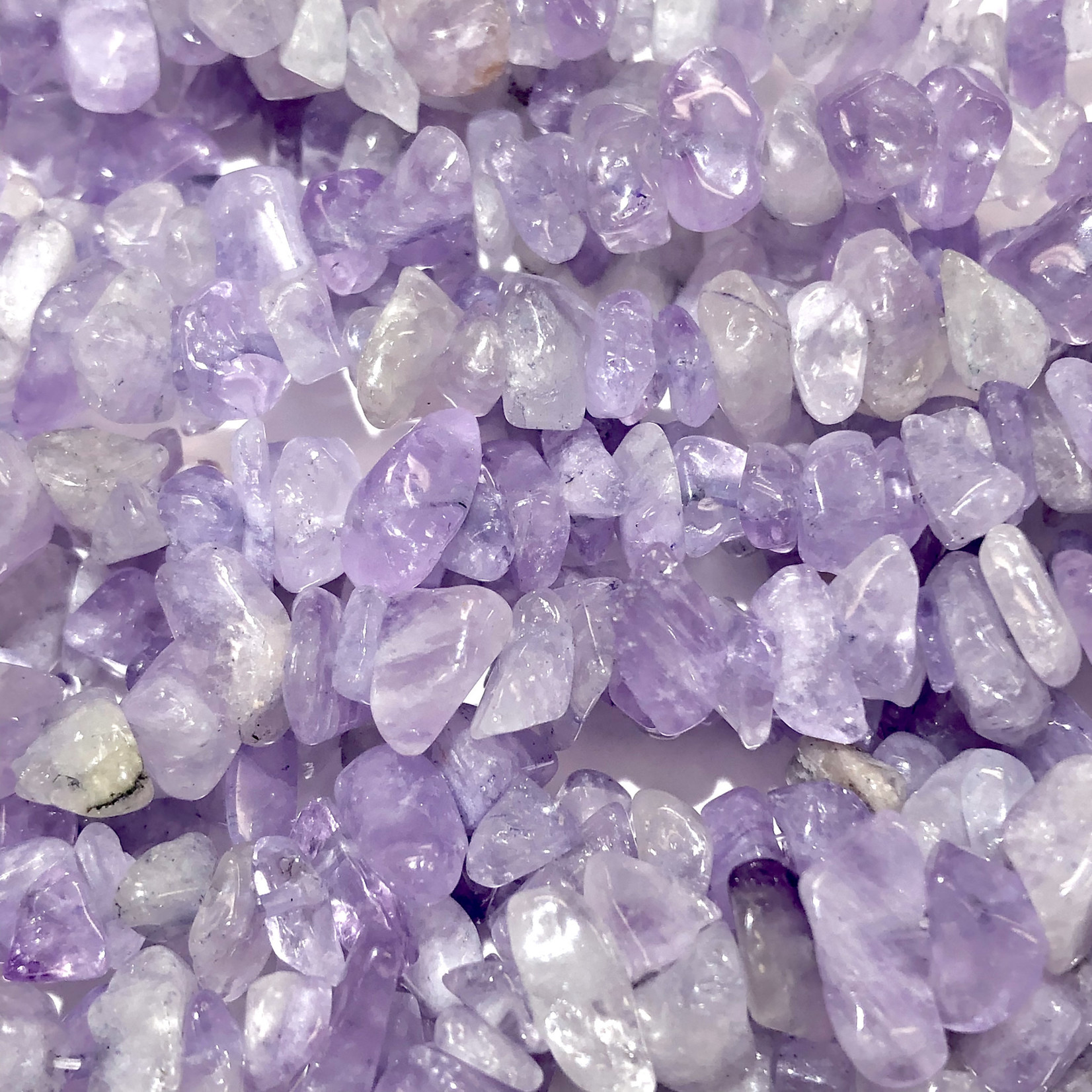 "AMETHYST Chip Beads Natural Lilac 34"" Strand"