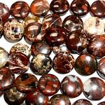 BRECCIATED JASPER Natural 20mm Coin Beads