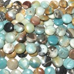 AMAZONITE Smooth Coin Beads 18mm