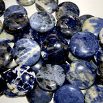 SODALITE Natural 20mm Smooth Coin Beads