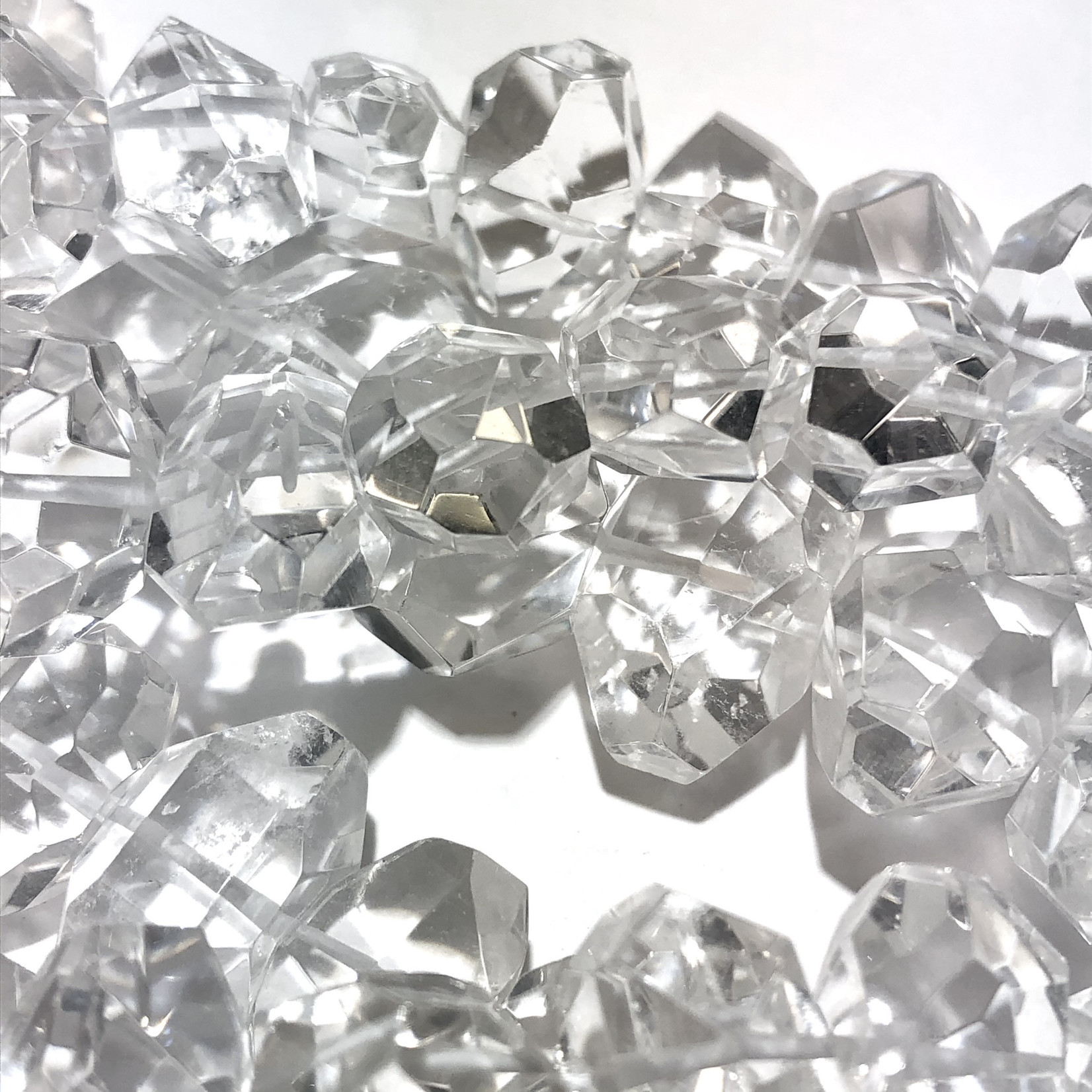 Clear QUARTZ Grade AAA 18-22mm Faceted