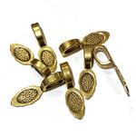 Antique Gold GLUE-ON BAILS 25x8mm 12/Pkg