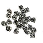 TIBETAN BEADS Silver 8mm 3 Sided Flower 40/Pkg