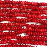 BAMBOO CORAL Natural Dyed Red Small Chips