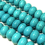 MAGNESITE Dyed Turquoise 8 x 15mm Rondelle