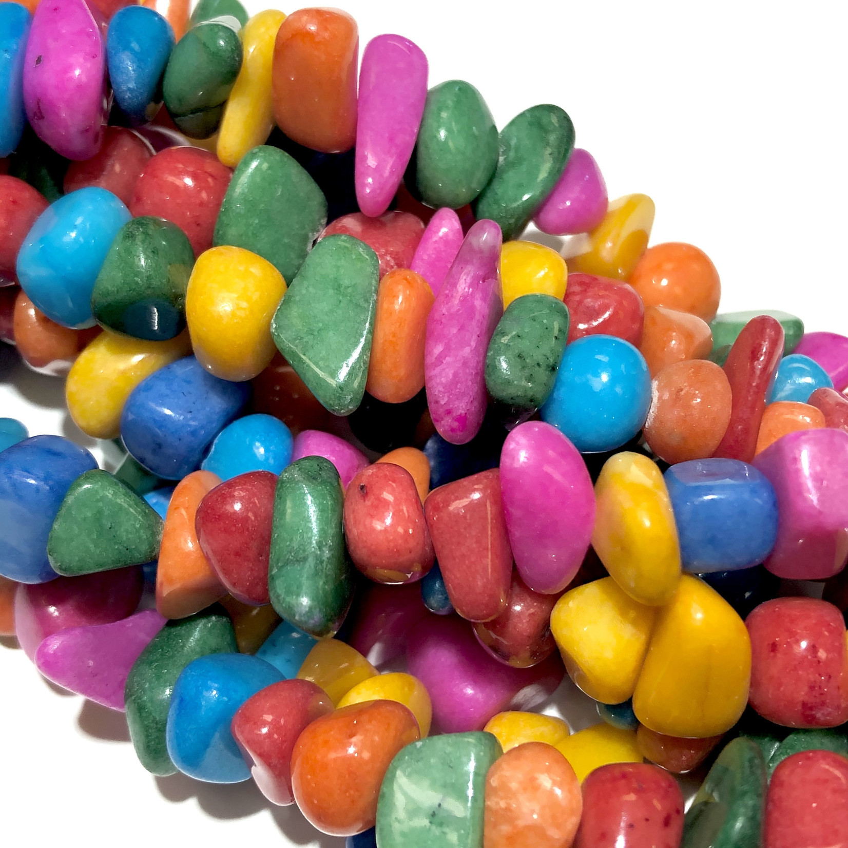 """CANDY JADE Multi-Coloured Chips 18"""" strand"""