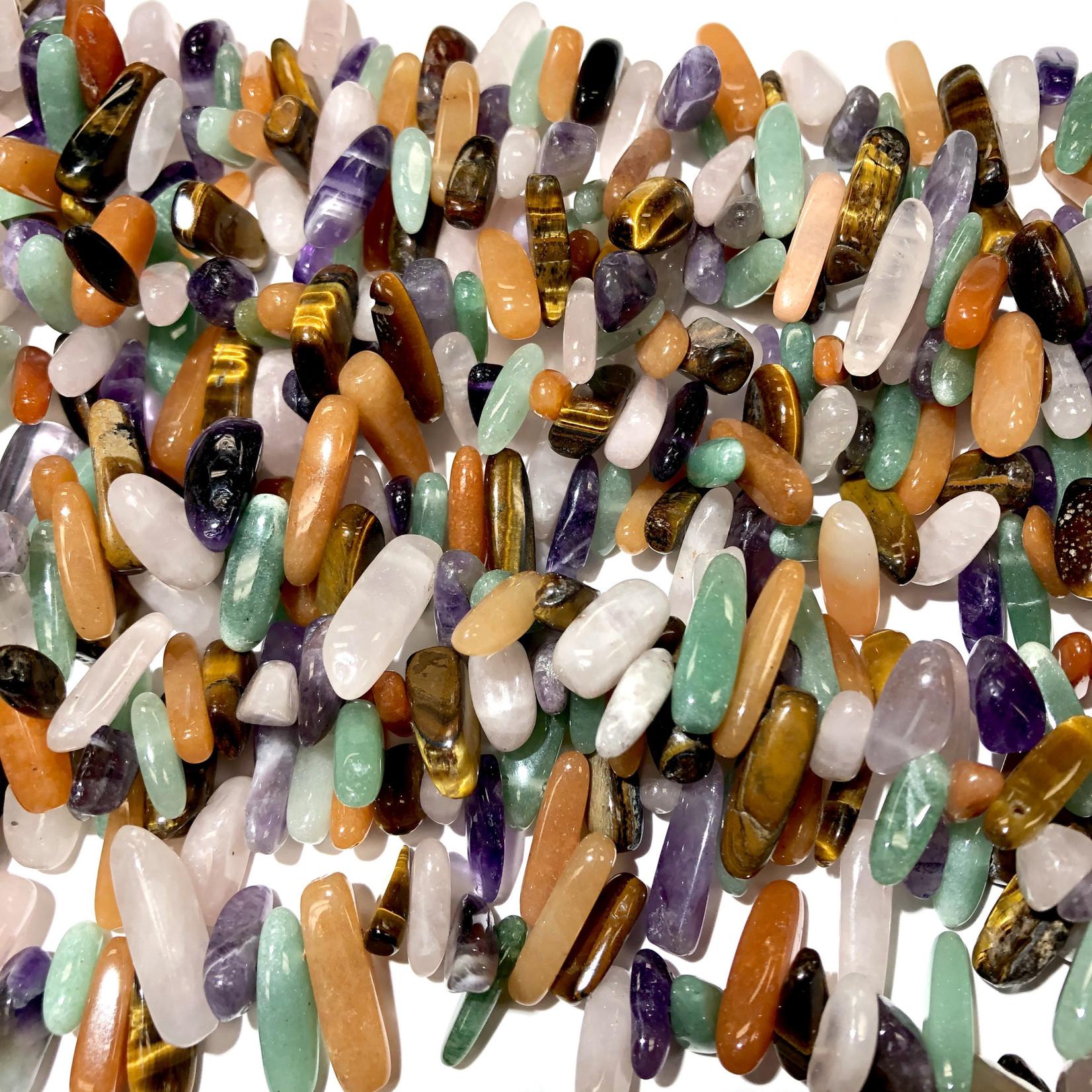 ASSORTED GEMSTONES Chip Beads 10 - 20mm