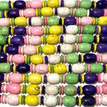 MAGNESITE Asst Colour Barrels / Discs 16x12mm