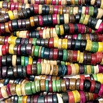 Natural COCONUT (DYED) Heishi Beads 8 X 4.5mm