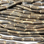 Natural COCONUT Tube Beads 15 X 5mm