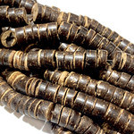 Natural COCONUT Heishi Beads 8 X 4.5mm
