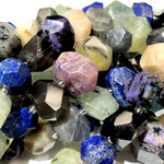 Mixed Gemstone Nuggets 18-24mm Faceted