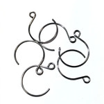 Stainless Steel 22mm Round Fishhook Earring 16pcs