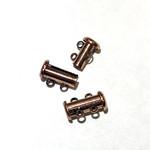 Slide CLASP 2 Strand Copper Plated Brass 4/pkg