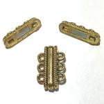 Large 3-Hole Magnetic CLASP Gold 27mm 2pcs