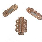 Large 3-Hole Magnetic CLASP Brt Copper 27mm 2pcs
