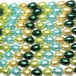 """Glass Pearl Drops 8x11mm Mix - 11-12"""" Strand"""