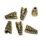 TIBETAN Bead Cone Antique Gold 15 x 9mm 8pcs