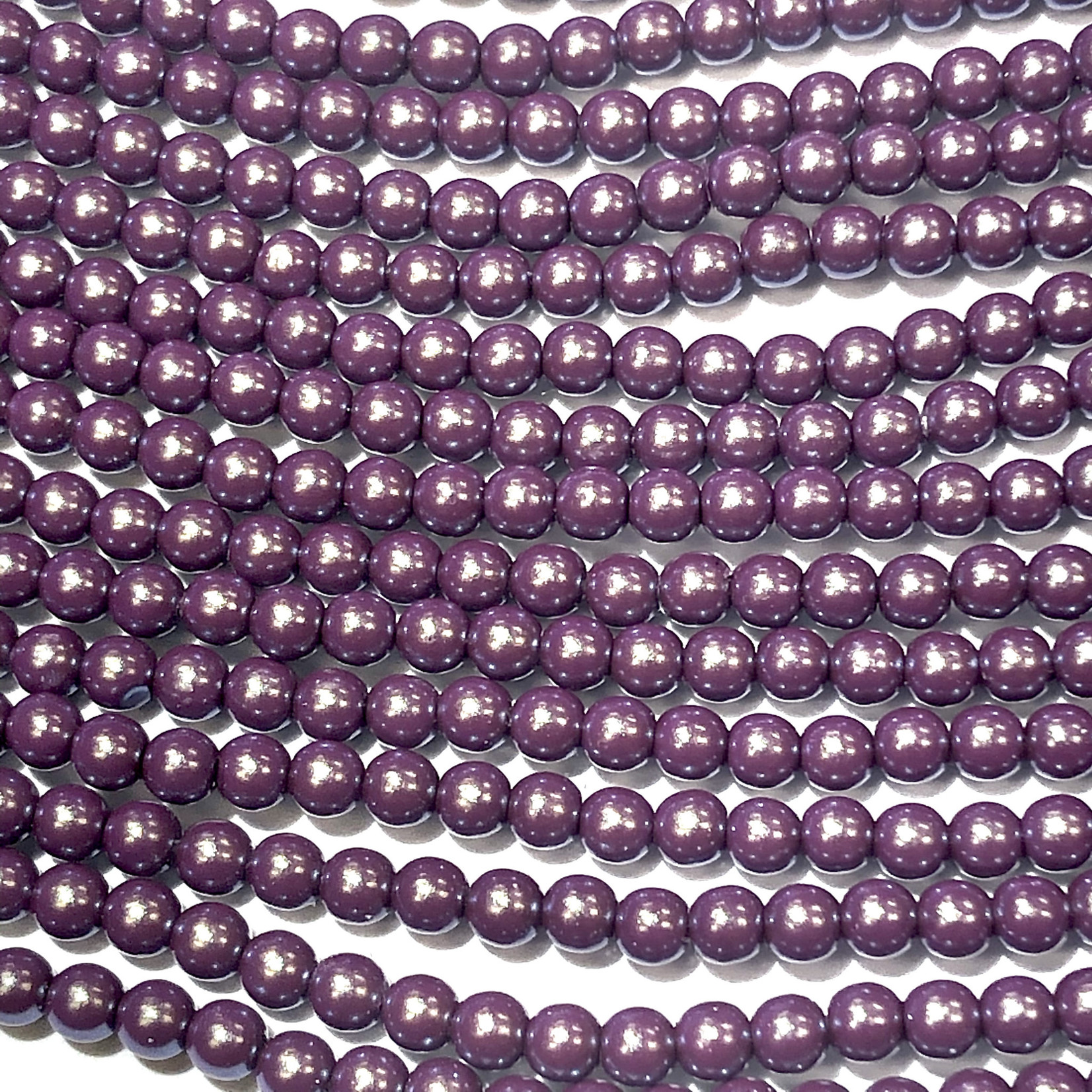 Czech Glass Pearl 3mm Grape Satin 150pcs
