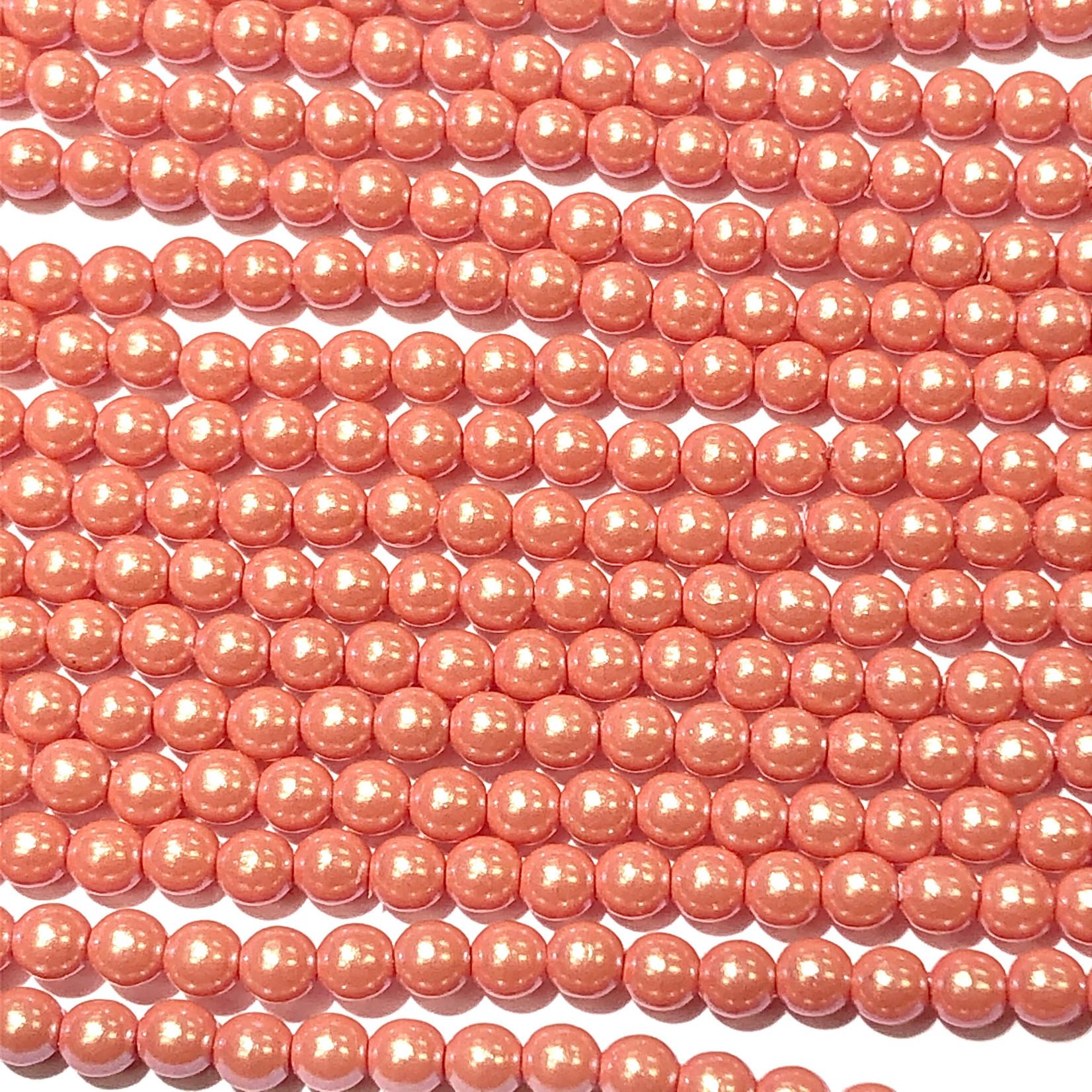 Czech Glass Pearl 3mm Orange Sherbet 150pcs