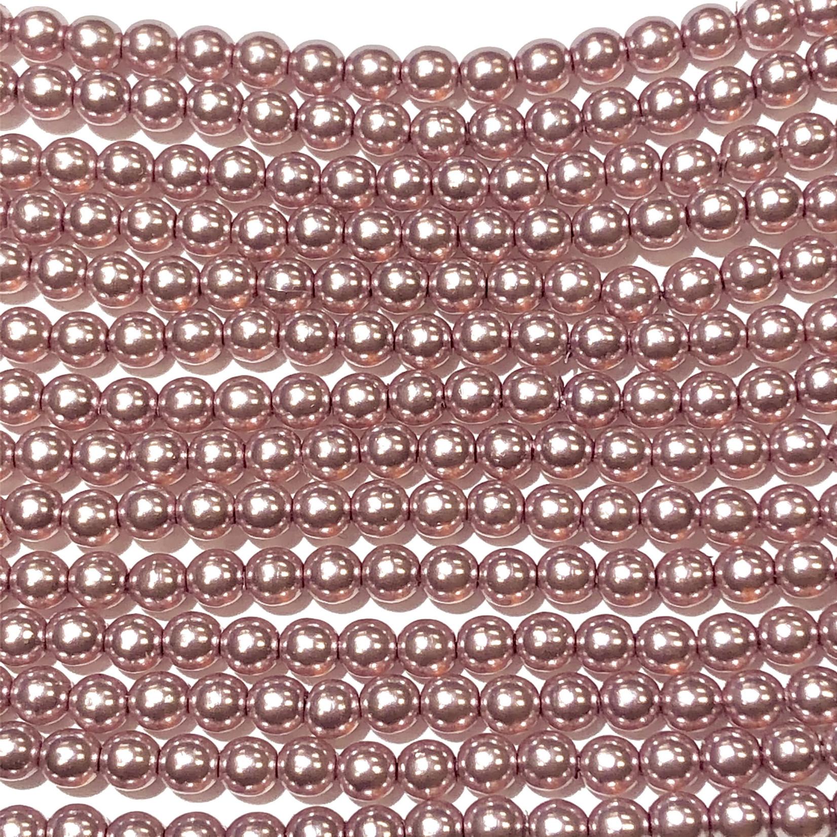 Czech Glass Pearl 3mm Pale Orchid 150pcs