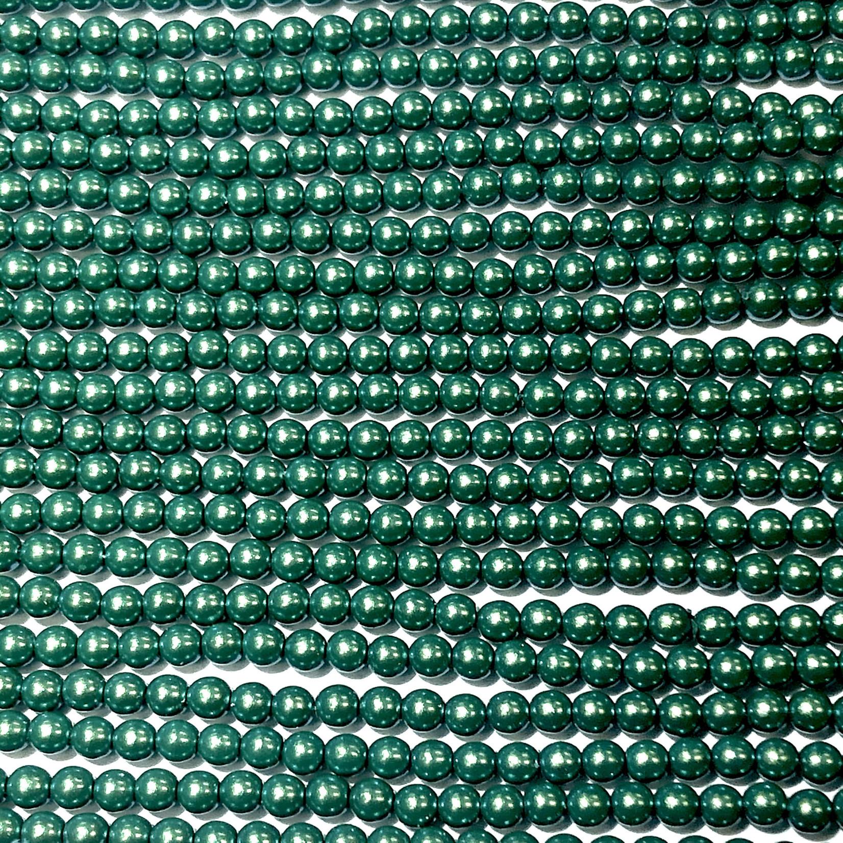 Czech Glass Pearl 3mm Peppermint 150pcs