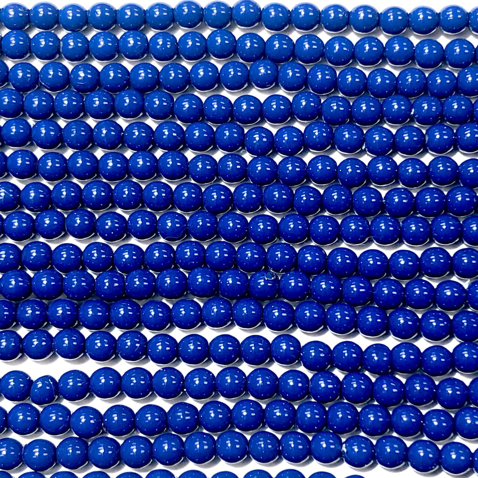 Czech Glass Pearl 3mm Royal Blue 150pcs