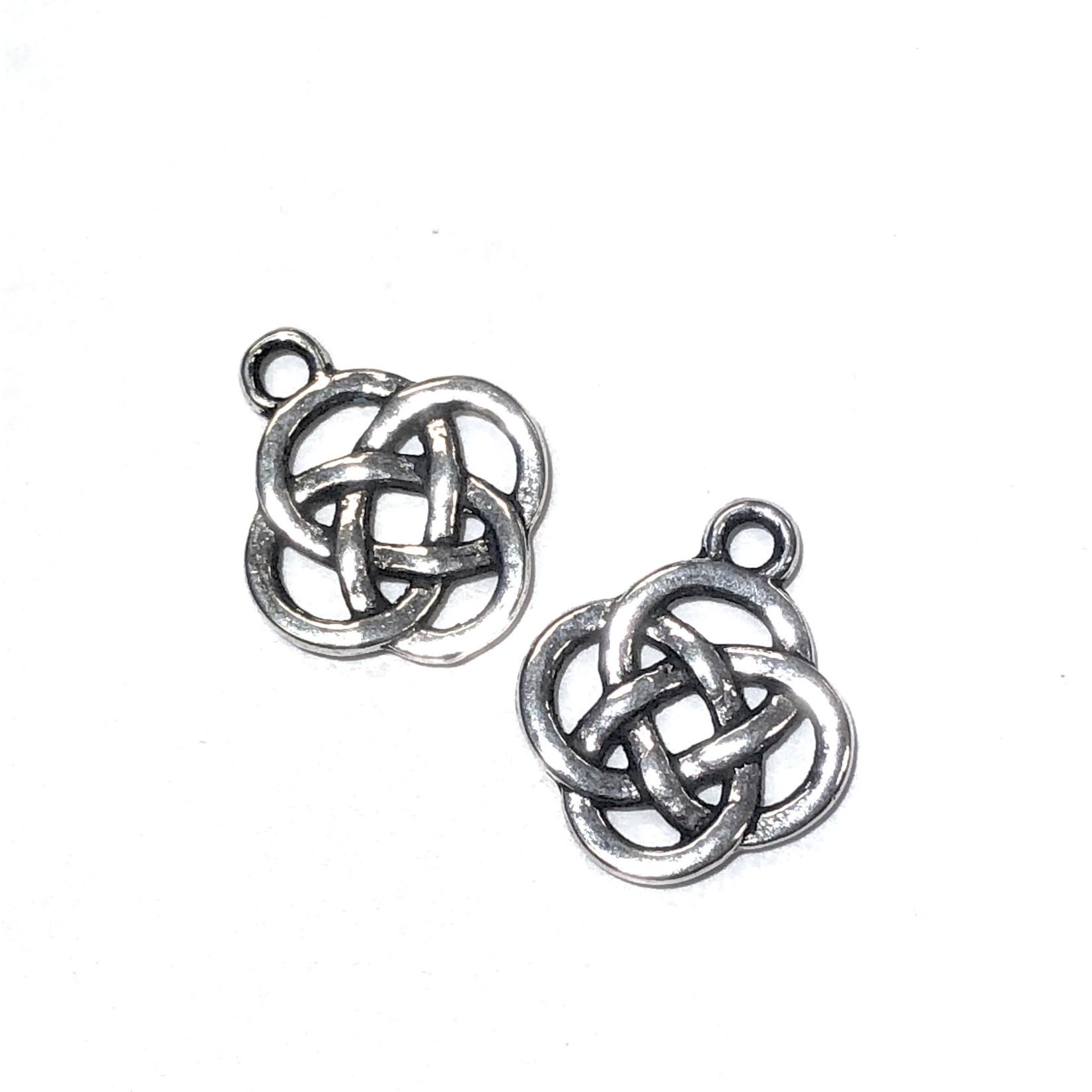 Antique Silver Celtic Knot 18mm Charm 8pcs