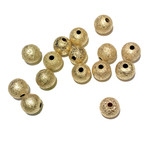 Gold Plated Stardust 8mm Spacer Bead 30pcs