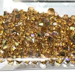 Preciosa Crystal 4mm Bicone Topaz AB 144pcs