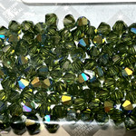 Preciosa Crystal 4mm Bicone Olivine AB 144pcs