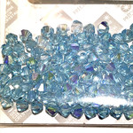 Preciosa Crystal 4mm Bicone Aqua AB 144pcs