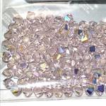 Preciosa Crystal 4mm Bicone Lt Rose AB 144pcs