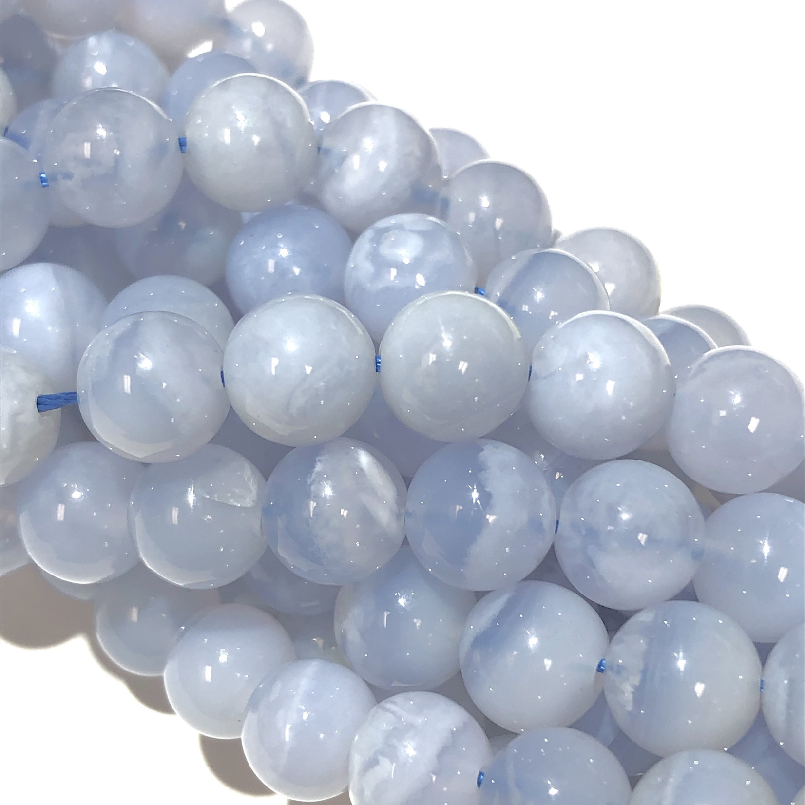 Blue Lace AGATE Natural 8mm Round