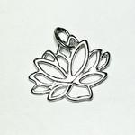 Sterling Silver Lotus Leaf Mini Charm 13mm